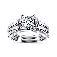 Beatrix 14k White Gold Princess Cut Solitaire Engagement Ring