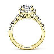Beckett 14k Yellow Gold Round Halo Engagement Ring angle 2