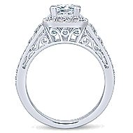 Bedford 14k White Gold Princess Cut Halo Engagement Ring angle 2