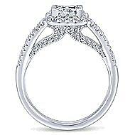 Bergamot 14k White Gold Princess Cut Halo Engagement Ring angle 2