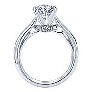 Bethany 18k White Gold Round Solitaire Engagement Ring angle 2