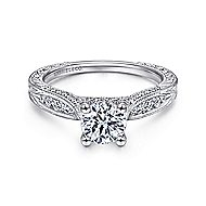 Betsy 14k White Gold Round Straight Engagement Ring angle 1