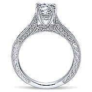 Betsy 14k White Gold Round Straight Engagement Ring angle 2
