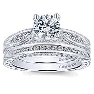 Betsy 14k White Gold Round Straight Engagement Ring angle 4