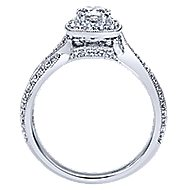 Bexley 14k White Gold Round Halo Engagement Ring angle 2