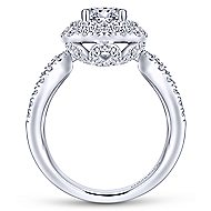 Bianca 18k White Gold Round Double Halo Engagement Ring angle 2