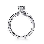 Blair 14k White Gold Round Solitaire Engagement Ring angle 2