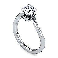 Blair Platinum Cushion Cut Solitaire Engagement Ring