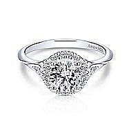 Boa 18k White Gold Round Halo Engagement Ring angle 1