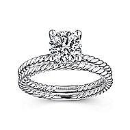 Bobbi 14k White Gold Round Solitaire Engagement Ring