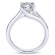 Bria 14k White Gold Round Bypass Engagement Ring angle 2