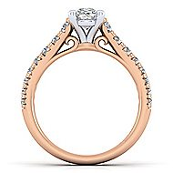 Bridget 14k White And Rose Gold Oval Straight Engagement Ring angle 2