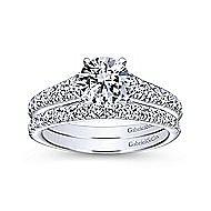Bridget 14k White Gold Round Straight Engagement Ring angle 4