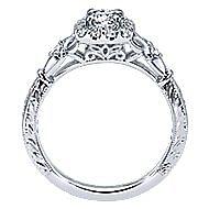 Briny 14k White Gold Round Halo Engagement Ring angle 2