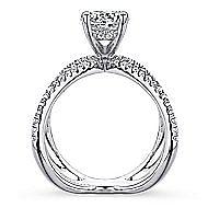 Bruna 18k White Gold Round Split Shank Engagement Ring angle 2