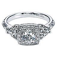 Bryant 14k White Gold Round Halo Engagement Ring angle 1
