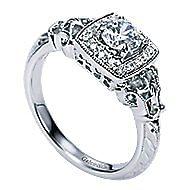 Bryant 14k White Gold Round Halo Engagement Ring angle 3
