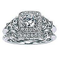 Bryant 14k White Gold Round Halo Engagement Ring angle 4
