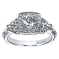 Bryant 14k White Gold Round Halo Engagement Ring angle 5