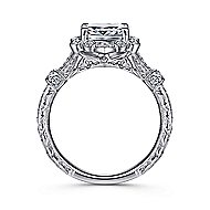 Calliope 14k White Gold Cushion Cut Halo Engagement Ring angle 2