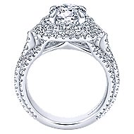 Cami 18k White Gold Round Double Halo Engagement Ring angle 2