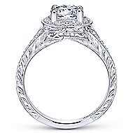 Camlet 18k White Gold Round Halo Engagement Ring angle 2