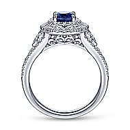Carlotta 14k White Gold Oval Double Halo Engagement Ring