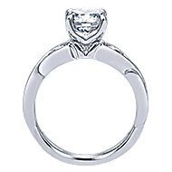 Carly 18k White Gold Round Straight Engagement Ring angle 2