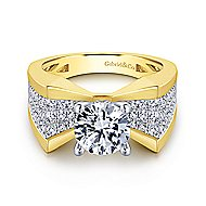 Carol 14k Yellow And White Gold Round Straight Engagement Ring angle 1