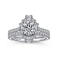 Carrington 14k White Gold Round Halo Engagement Ring