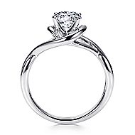 Celine 14k White Gold Round Twisted Engagement Ring angle 2
