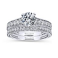 Cerulean 14k White Gold Round Straight Engagement Ring angle 4