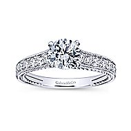 Cerulean 14k White Gold Round Straight Engagement Ring angle 5