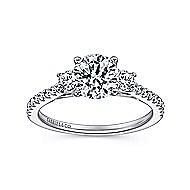 Chantal 14k White Gold Round 3 Stones Engagement Ring