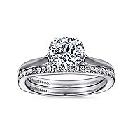 Charlotte 18k White Gold Round Solitaire Engagement Ring