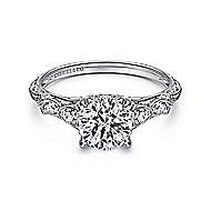 Chelsea 18k White Gold Round Straight Engagement Ring