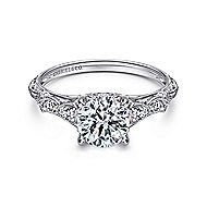 Chelsea Platinum Round Straight Engagement Ring angle 1