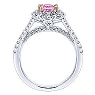 Cherie 14k White And Rose Gold Oval Halo Engagement Ring
