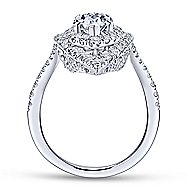 Chiara 18k White Gold Pear Shape Double Halo Engagement Ring angle 2