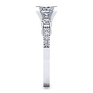 Chloe 14k White Gold Princess Cut 3 Stones Engagement Ring angle 5