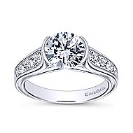 Colton 14k White Gold Round Straight Engagement Ring angle 5