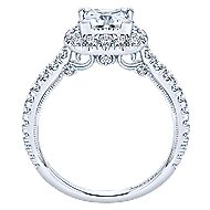 Compassion 18k White Gold Princess Cut Halo Engagement Ring angle 2