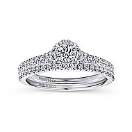Coney 14k White Gold Round Halo Engagement Ring angle 4