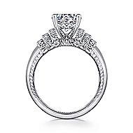 Connie 14k White Gold Round Straight Engagement Ring angle 2