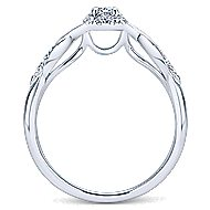 Cooper 14k White Gold Round Halo Engagement Ring angle 2