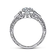Coraline Platinum Round Halo Engagement Ring