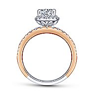 Corbin 18k White And Rose Gold Round Halo Engagement Ring angle 2