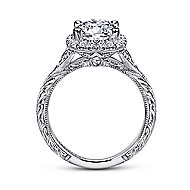 Cordula 18k White Gold Round Halo Engagement Ring angle 2