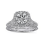 Cordula 18k White Gold Round Halo Engagement Ring angle 4