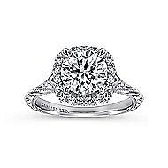 Cordula 18k White Gold Round Halo Engagement Ring angle 5